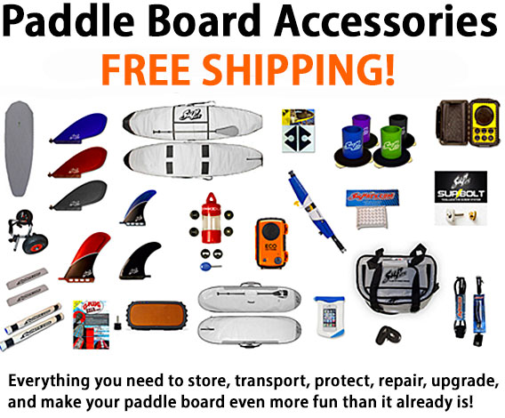 Stand Up Paddle Accessories - SUP Board Bags, SUP Racks