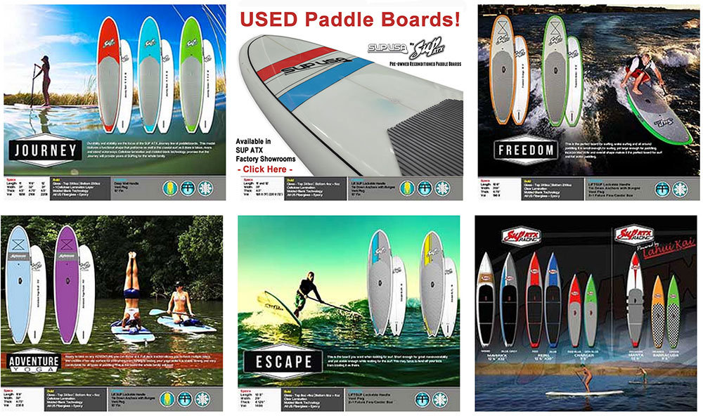 Used Paddle Boards >> Sup Atx Factory Showroom In Parker Arizona New And Used